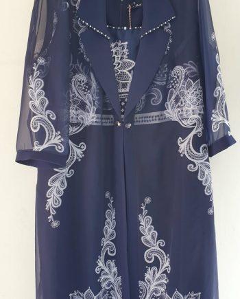 Abito Debora Couture Blu e Bianco negoziodebora.itAbito Debora Couture Blu e Bianco negoziodebora.it