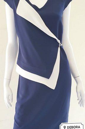 Abito Debora Couture 04053 Blu negoziodebora.it