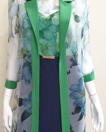Abito Debora Couture 19286 Verde negoziodebora.it
