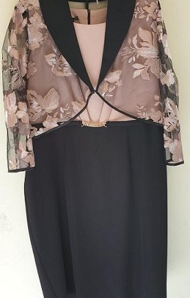 Abito Debora Couture 19302 Rosa negoziodebora.it