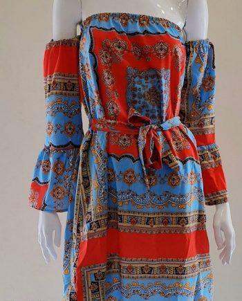 Abito Debora Couture 6017 Azzurro
