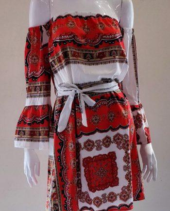 Abito Debora Couture 6017 Rosso
