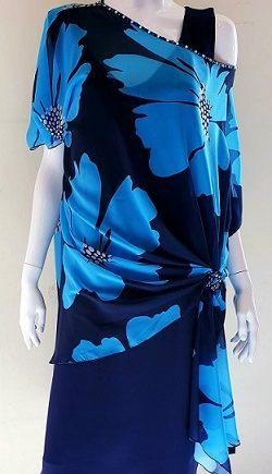 Abito Debora Couture ARGENTINA Blu negoziodebora.it