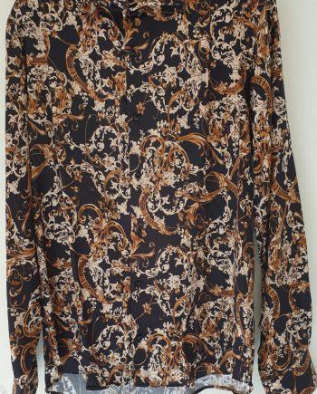 Camicia Debora Couture 307 Nera e Beige negoziodebora.it