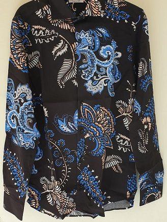 Camicia Debora Couture 307 Nera e Blu negoziodebora.it