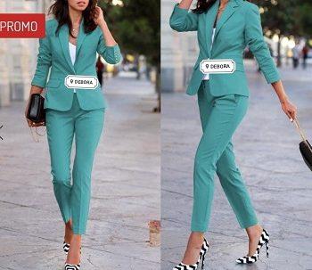 Completo Debora Couture Verde Tiffany