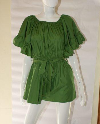 Abito Debora Couture T10653 vestito verde negoziodebora.it