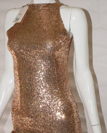 Abito Debora Couture VES 80015 con paiettes rosa