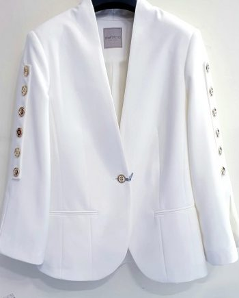 Giacca Debora Couture 11042 Bianca negoziodebora.it