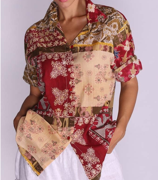 Camicia Antica Sartoria Positano Short Shirt 70/9 negoziodebora.it