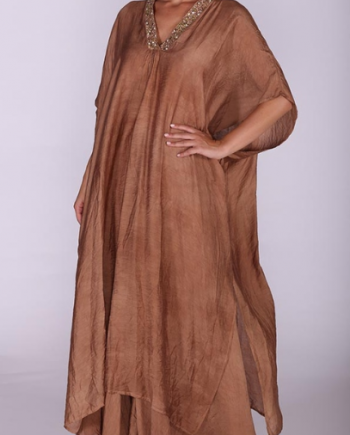 Poncho Antica Sartoria Positano 2019S104 Brown negoziodebora.it