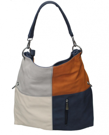 Borsa Debora Couture BF/748/1200/11281(Marrone, blue, grigio, avorio)