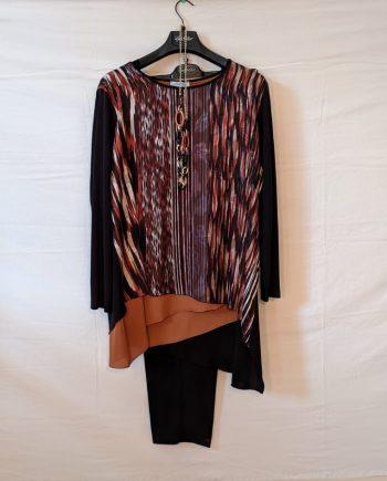 Completo Debora Couture LC02005 (MARRONE)