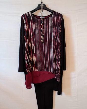 Completo Debora Couture LC02005 (ROSSO)