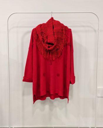 Maglione Over Debora Couture 19871 (Rosso)