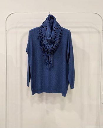 Maglione Over Debora Couture 7523 (Azzurro)