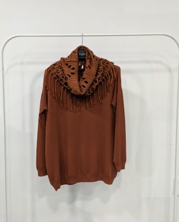 Maglione Over Debora Couture 7523 (Marrone)