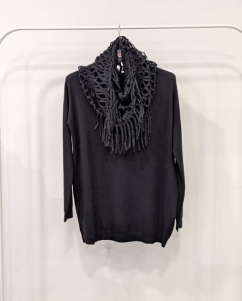 Maglione Over Debora Couture 7523 (Nero)