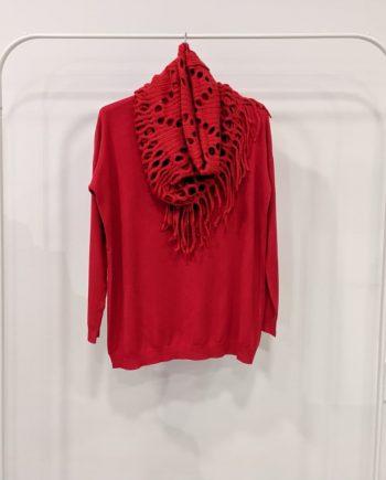 Maglione Over Debora Couture 7523 (Rosso)