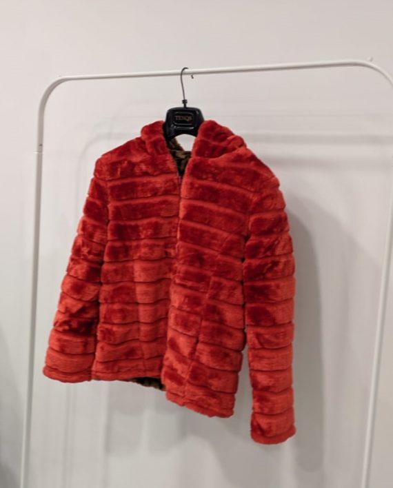 Pelliccia Reversibile Debora Couture 0661 (Rosso arancio) (2)