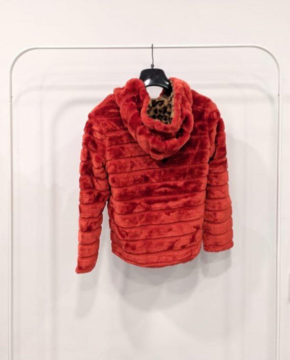 Pelliccia Reversibile Debora Couture 0661 (Rosso arancio) (3)