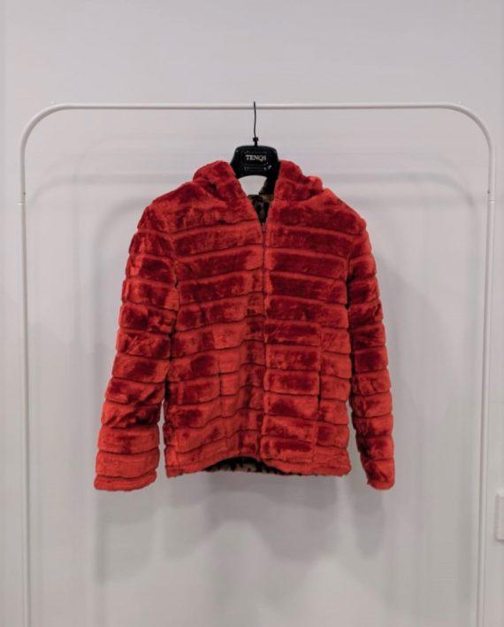 Pelliccia Reversibile Debora Couture 0661 (Rosso arancio)