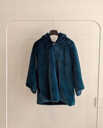 Pelliccia Reversibile Debora Couture 50507 (Ciano)
