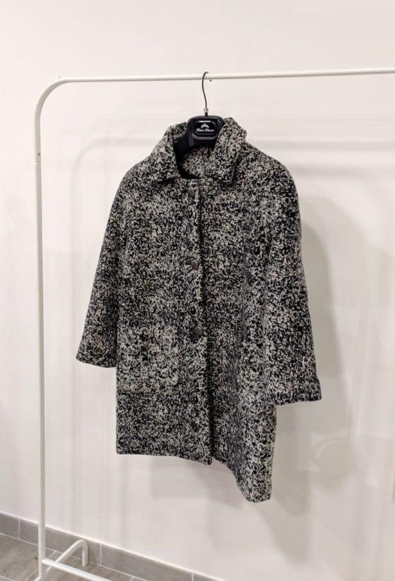 Cappotto debora couture 106171 (Bianco e nero) (2)