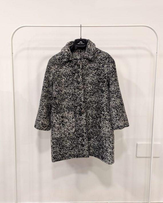 Cappotto debora couture 106171 (Bianco e nero)