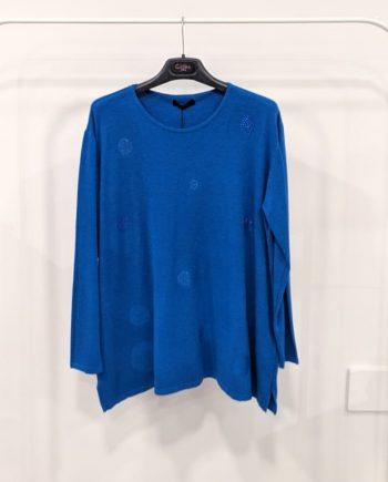 Maglione Over Debora Couture 24479 (Blu)
