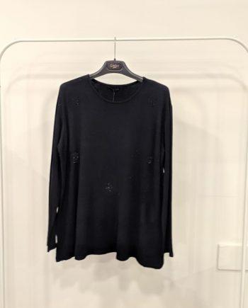 Maglione Over Debora Couture 24479 (Nero)