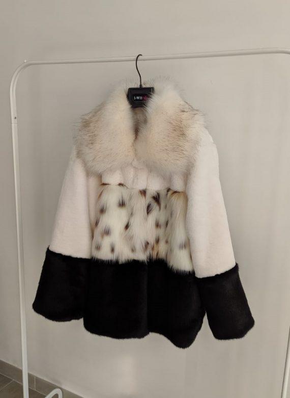 Pelliccia Debora Couture 3761 (Bianco e nero) (2)