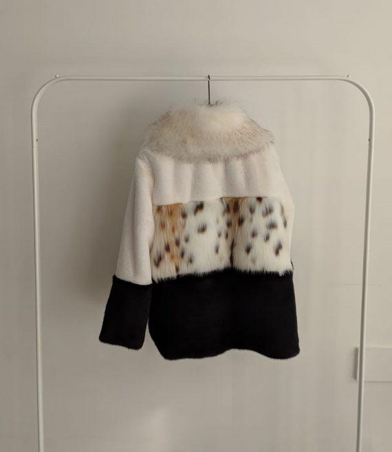 Pelliccia Debora Couture 3761 (Bianco e nero) (3)