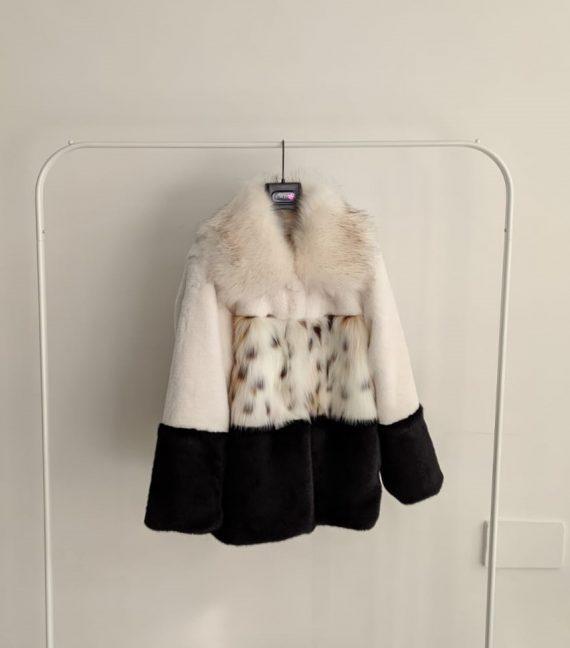 Pelliccia Debora Couture 3761 (Bianco e nero)